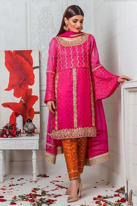 Sadaf Amir - Pink Formal Khadi Shirt