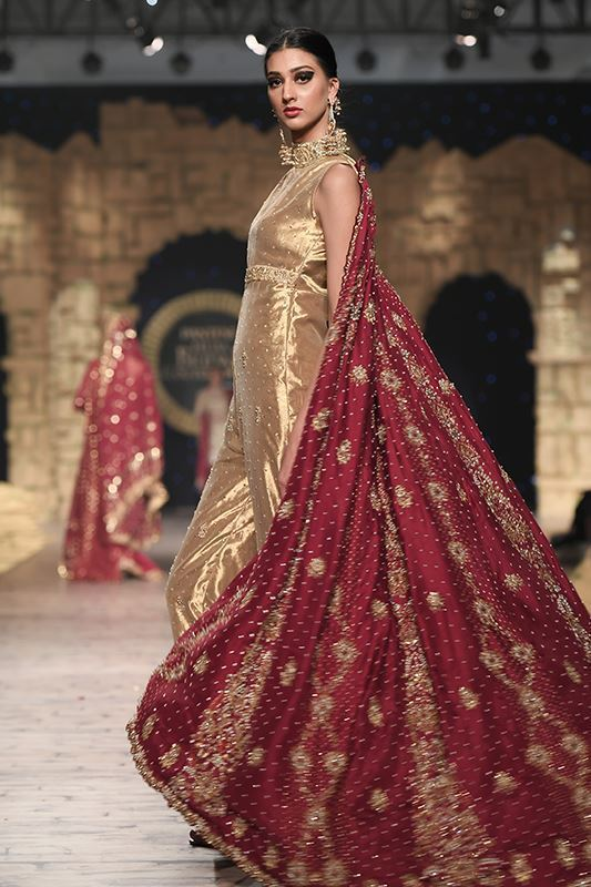 Sadaf Amir - Golden Bridal Raw Silk Suit